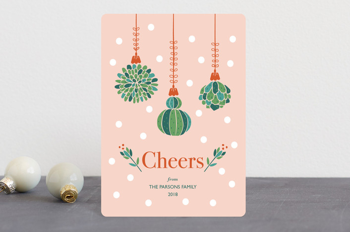 """""""Succulent Christmas"""" - Vintage Holiday Petite Cards in Gumdrop by Chi Hey Lee."""