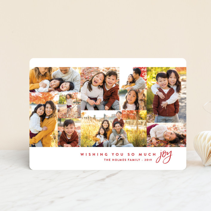"""""""Joyful Photos"""" - Holiday Petite Cards in Holly Berry by Amy Payne."""