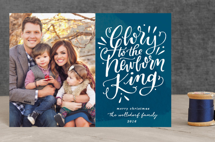 """The Glorious King"" - Holiday Petite Cards in Navy by Makewells."