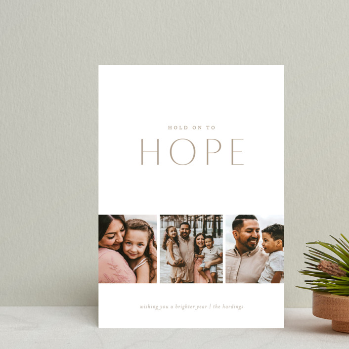 """Hold on to Hope"" - Holiday Petite Cards in Natural by Erin L. Wilson."