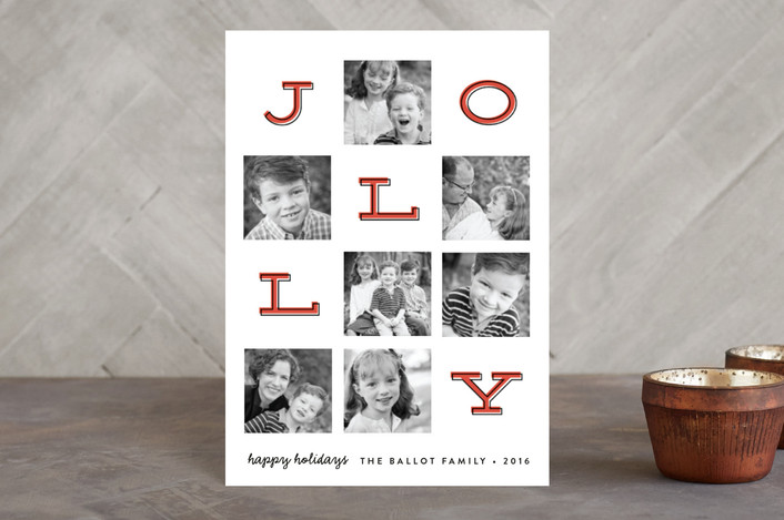 """Jolly Squares"" - Holiday Petite Cards in Peppermint by Erica Krystek."
