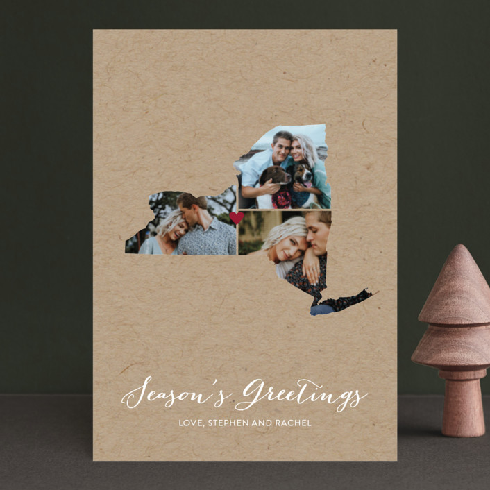 """""""Love Location"""" - Holiday Petite Cards in Kraft by Heather Buchma."""