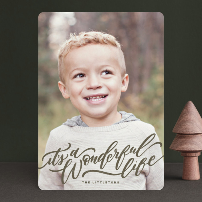 """""""A Sweet + Wonderful Life"""" - Holiday Petite Cards in Earth by Wildfield Paper Co.."""