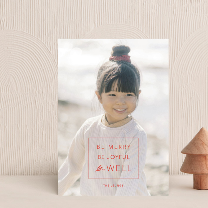 """""""be well box"""" - Holiday Petite Cards in Berry by Alaina Cherup."""