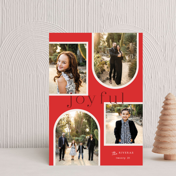 """""""Joy Collage"""" - Holiday Petite Cards in Cherry by Elly."""