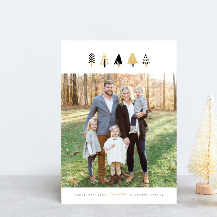 """Tiny Trees"" - Holiday Petite Cards in Midnight by Pistols."
