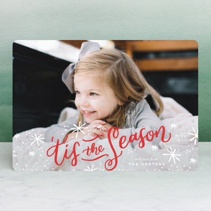 """'Tis the Holiday Season"" - Holiday Petite Cards in Poinsettia by Frooted Design."