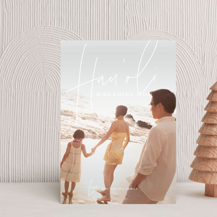 """Island Kalikimaka"" - Modern Holiday Petite Cards in Pikake by Guess What Design Studio."