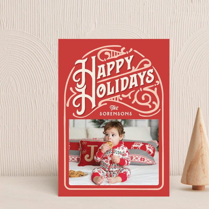 """""""Holiday Vintage"""" - Vintage Holiday Petite Cards in Candy Cane by GeekInk Design."""