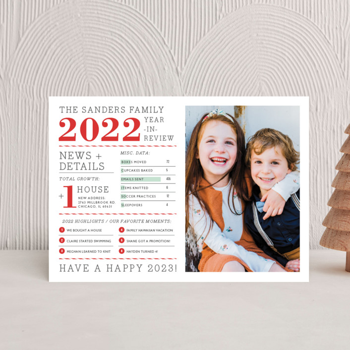 """""""Year in Review"""" - Holiday Petite Cards in Holly by cambria."""