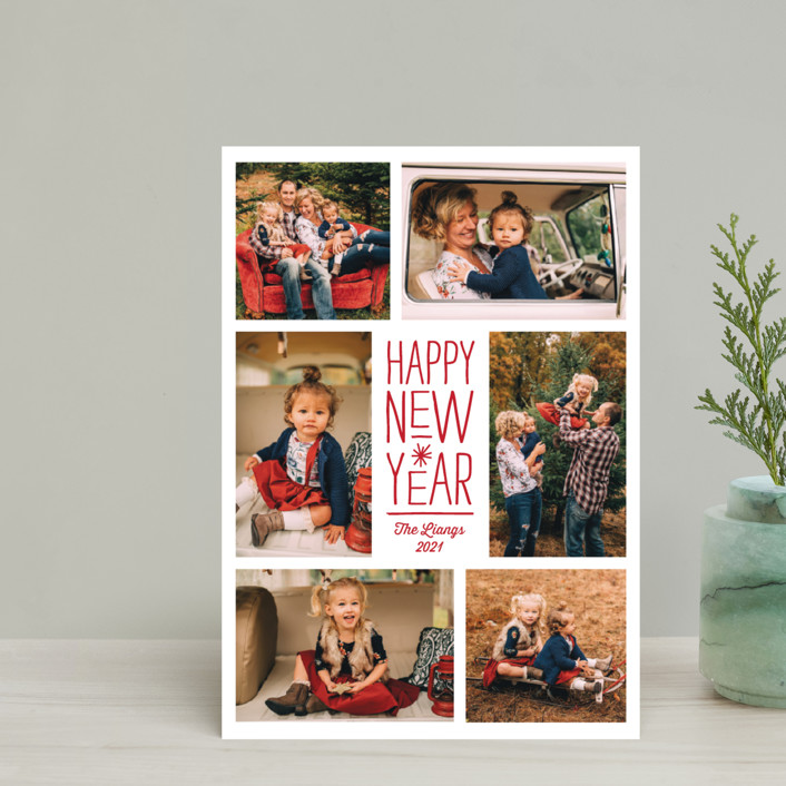"""""""Sparkling Cheers"""" - Holiday Petite Cards in Berry by Katherine Moynagh."""