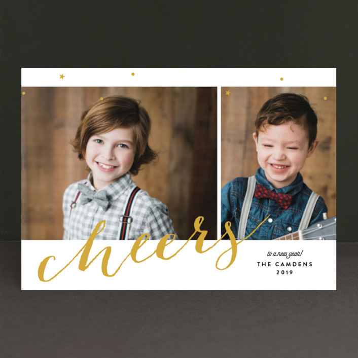 """""""Cheers Day"""" - Holiday Petite Cards in Golden by Ana Sharpe."""