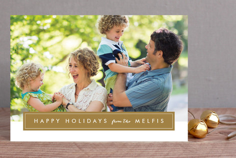 Modern Family Frame Holiday Petite Cards