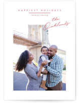 This is a red petite holiday card by Jessica Williams called Noted with standard printing on smooth signature in petite.