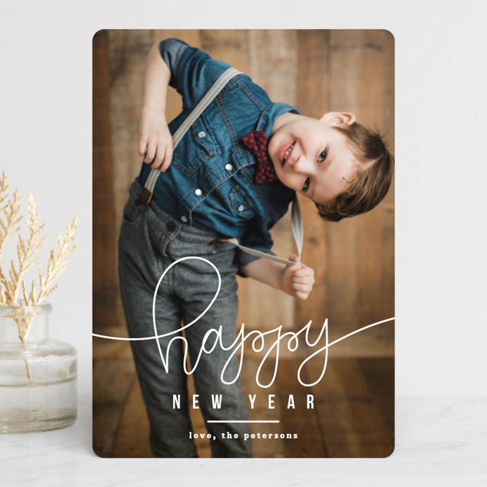"""HAPPY"" - Holiday Petite Cards in Golden by Up Up Creative."