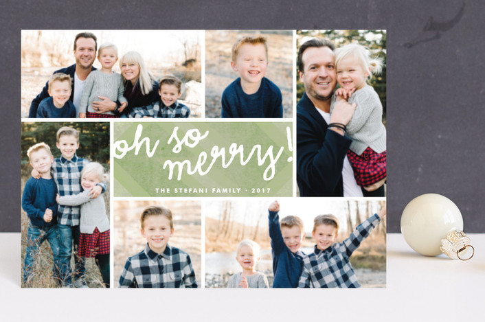 """""""Oh So Merry Collage"""" - Holiday Petite Cards in Moss by Wendy Van Ryn."""