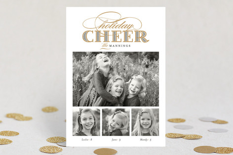 Gilded Cheer Holiday Petite Cards