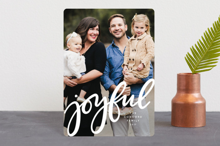 """Joyful"" - Holiday Petite Cards in Ivory by Lea Delaveris."