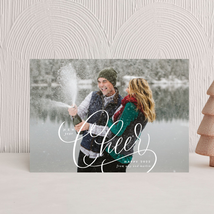 """""""Cheer"""" - Holiday Petite Cards in Snow by Erin German."""