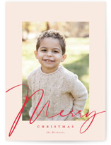 This is a red petite holiday card by Carrie ONeal called Milk and Cookies with standard printing on smooth signature in petite.
