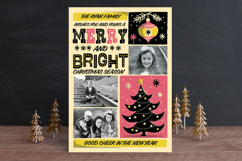 Retro Whimsical Poster Holiday Petite Cards
