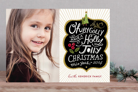 Holly Jolly Wishes Holiday Petite Cards