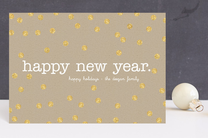 """Festive Craft"" - Minimalist, Simple Holiday Petite Cards in Gold by Erin Deegan."
