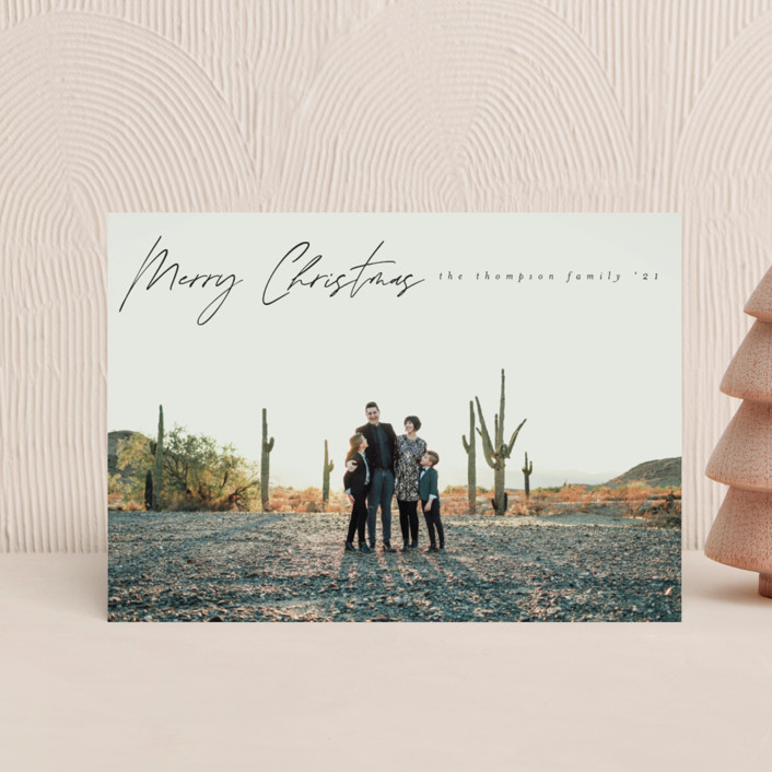"""""""Simply Minimal"""" - Holiday Petite Cards in Coal by Ashlee Townsend."""