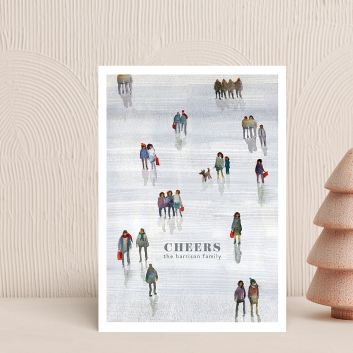 """Night Before Christmas"" - Holiday Petite Cards in Mist by Lulaloo."