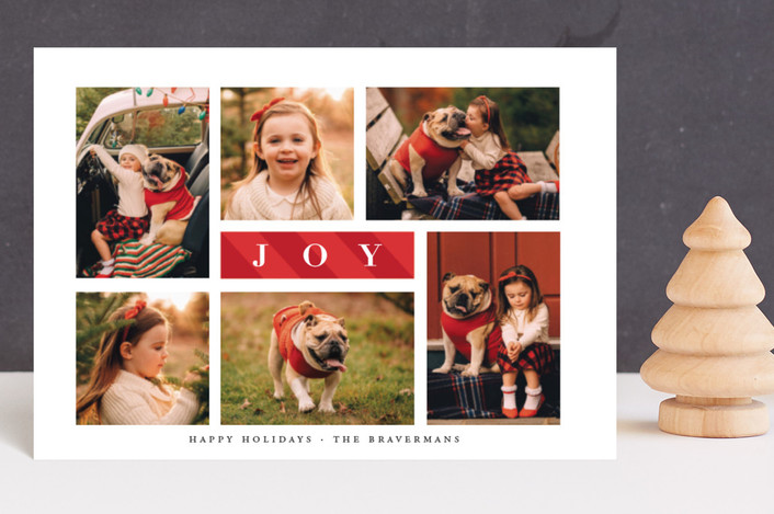 """Candy Cane Joy"" - Holiday Petite Cards in Cherry by Ellis."