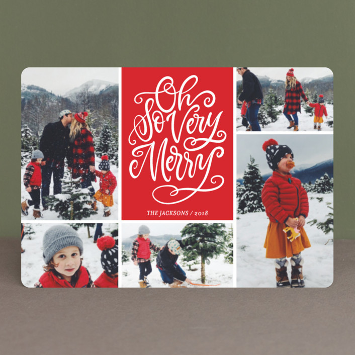 """Be Jolly Collage"" - Holiday Petite Cards in Santa Suit by Laura Bolter Design."