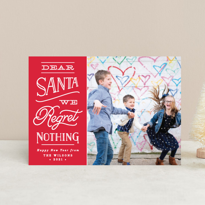 """No Regrets"" - Holiday Petite Cards in Holly by Olivia Raufman."
