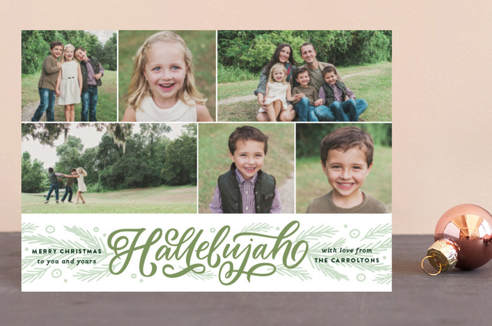 """Hallelujah Entwined"" - Holiday Petite Cards in Grass by Kristen Smith."