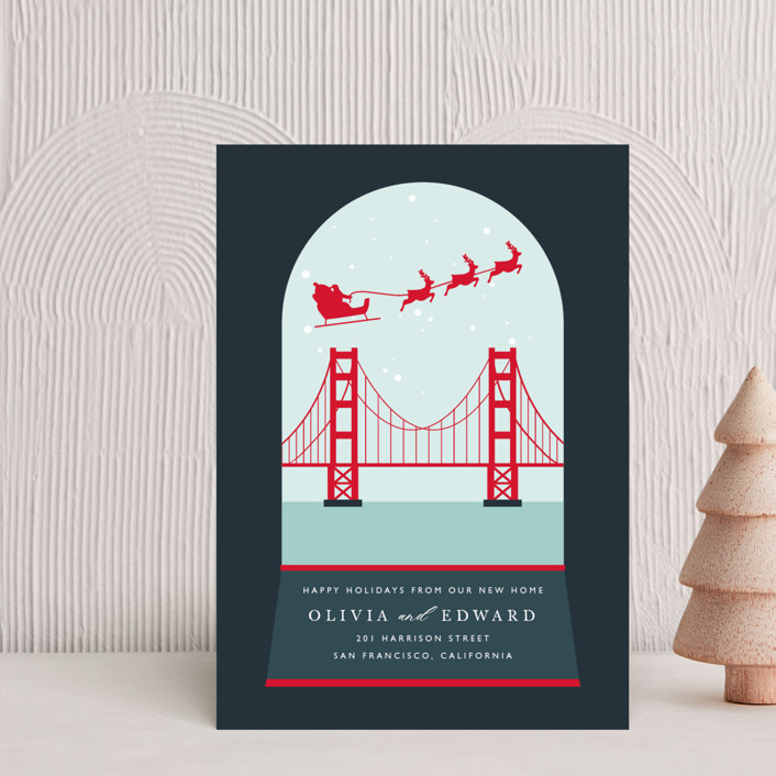 """""""Big City Love"""" - Vintage Holiday Petite Cards in Midnight by Caitlin Considine."""