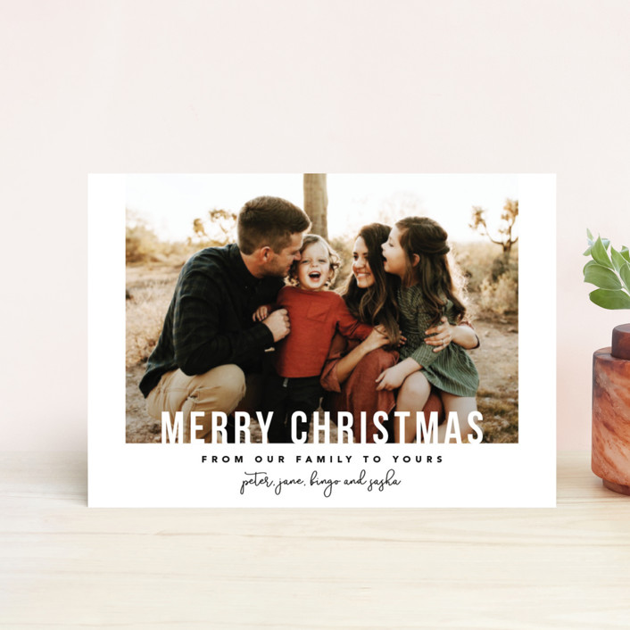 """""""From Our Family"""" - Holiday Petite Cards in Ash by Laura Hamm."""