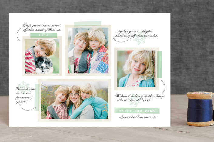 """""""Our Favorite Moments"""" - Holiday Petite Cards in Mint by Pistols."""