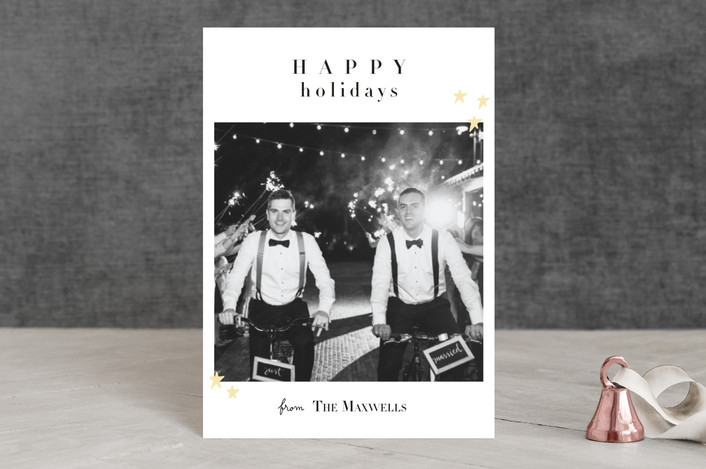 """""""Married Christmas"""" - Holiday Petite Cards in Paramount White by Kate Ross."""