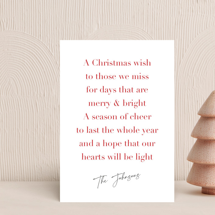 """Christmas Wish"" - Holiday Petite Cards in Candy Cane by Kelly Nasuta."