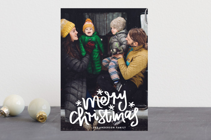 """""""Merry Christmas Letter"""" - Holiday Petite Cards in Snow by Phrosne Ras."""