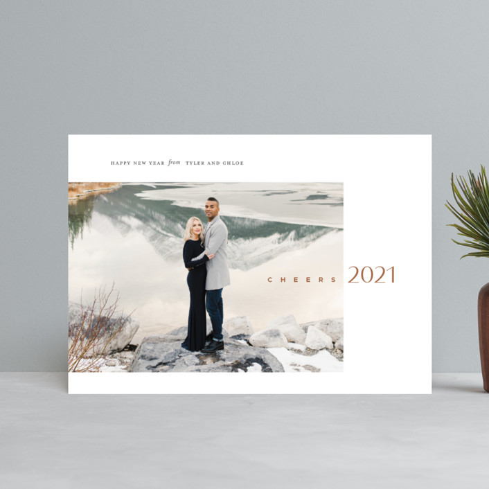 """new year's cheer"" - Holiday Petite Cards in Chestnut by Eric Clegg."