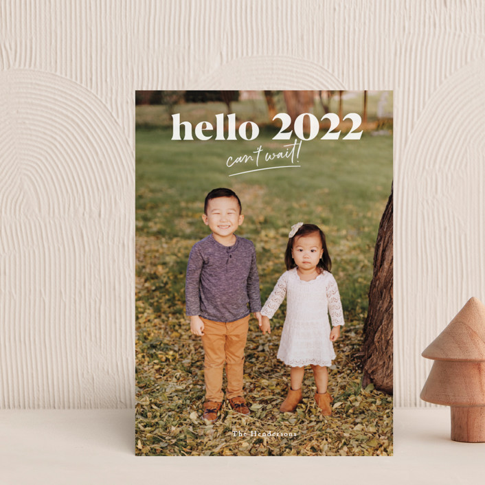 """""""can't wait 2021"""" - Holiday Petite Cards in Snow by Aspacia Kusulas."""