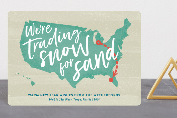 """Snow and Sand"" - Holiday Petite Cards in Aqua by Ann Gardner."