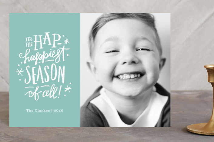 """""""Hap-Happiest Time"""" - Holiday Petite Cards in Frost by Jennifer Wick."""