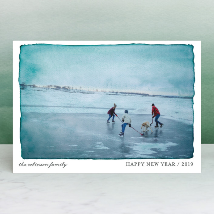 """""""Aquarelle"""" - Holiday Petite Cards in Ash by j.bartyn."""