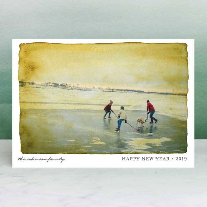 """Aquarelle"" - Holiday Petite Cards in Ash by cambria."