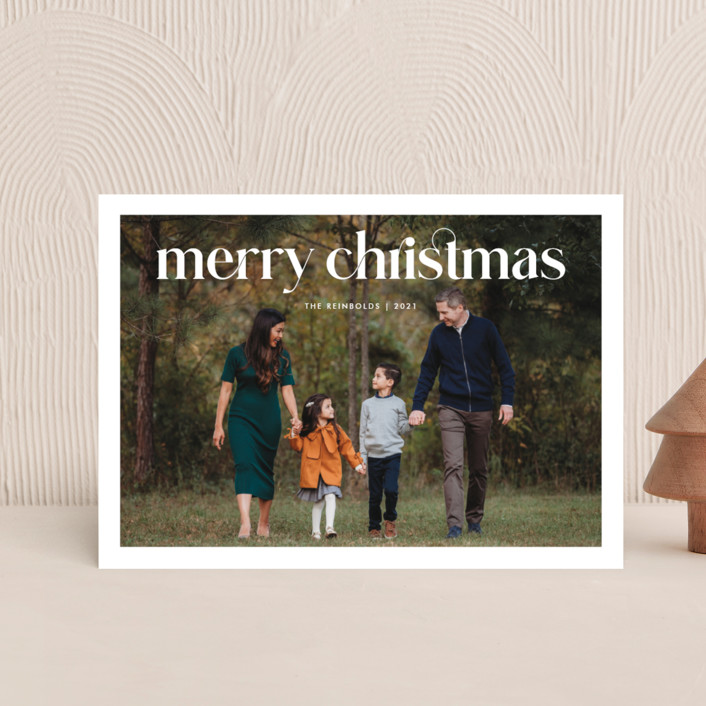 """""""Striking Type"""" - Holiday Petite Cards in Snowflake by Sandra Picco Design."""
