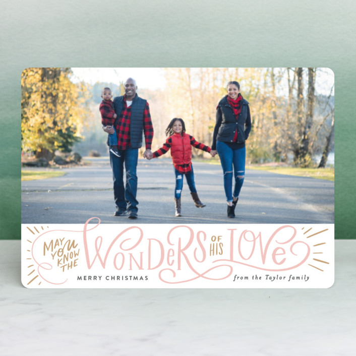 """""""Wonder of His Love Script"""" - Holiday Petite Cards in Pomegranate by Alethea and Ruth."""