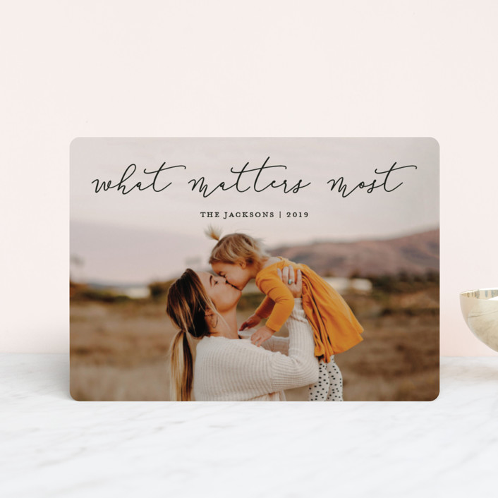 """What Matters Most"" - Holiday Petite Cards in Noir by annie clark."