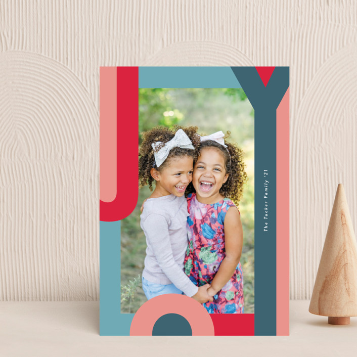 """""""Happy Hue"""" - Holiday Petite Cards in Ruby by Lauren Chism."""