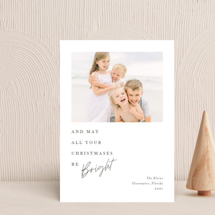 """""""Bright Christmas"""" - Holiday Petite Cards in Snowfall by Amy Payne."""
